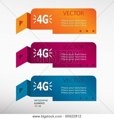 4G Sign On Origami Paper Banners.