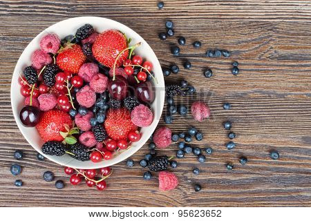Mixed Berries In A Bowl