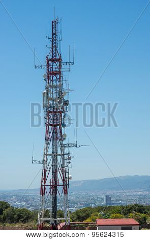 Communication Tower In Barcelona