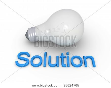 Light Bulb And Solution Word