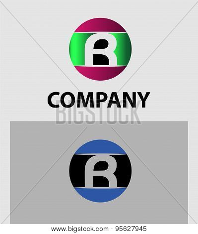 Letter R logo Icons Set Vector Graphic Design
