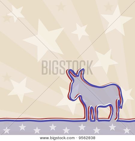 Political background with a donkey.  Includes transparencies