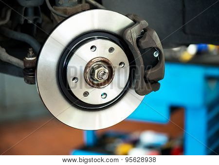 Brand New Brake Disc On Car