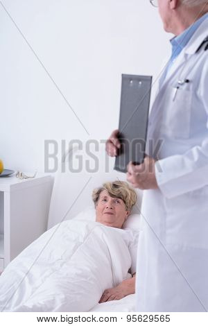 Older Woman In Hospital