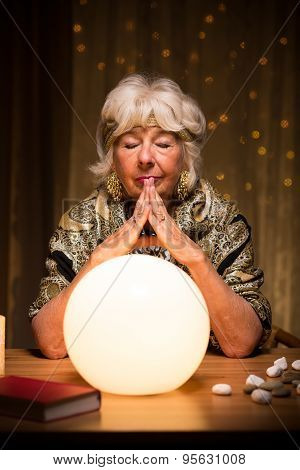 Fortune Teller Using Magic Ball