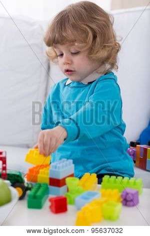 Boy Setting Tower