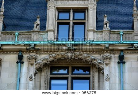 Detail Of Elaborate Mansion Roof Top