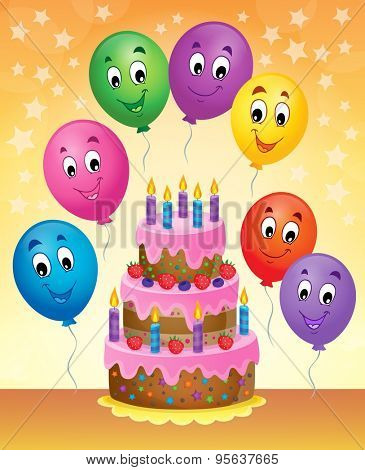 Birthday cake theme image 8 - eps10 vector illustration.