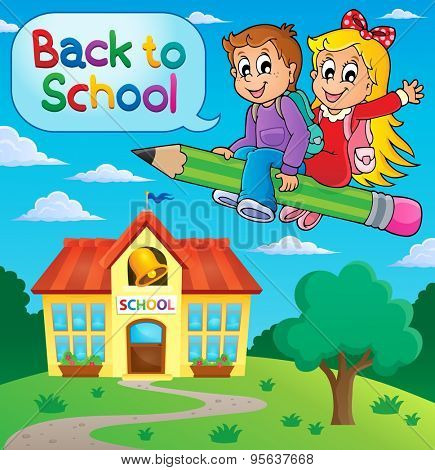 School kids theme image 9 - eps10 vector illustration.