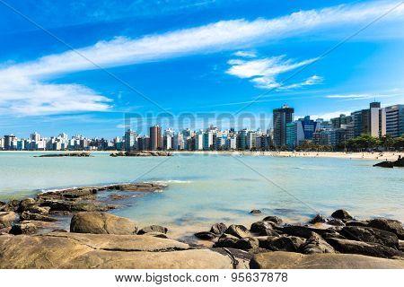 Praia da Costa (Costa Beach) in Espirito Santo, Brazil