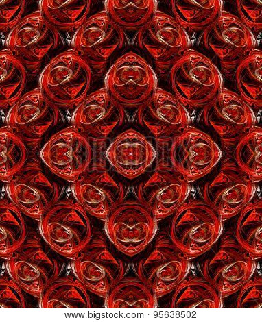 Seamless Ornate Background Or Pattern In Red