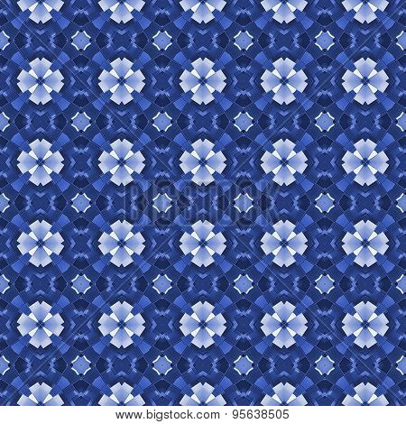 Seamless Ornate Mosaic Pattern Or Background In Blue