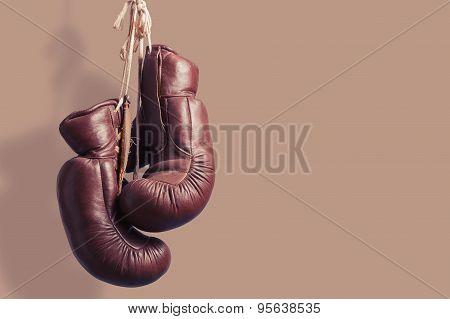 Vintage Boxing Gloves, Hanging