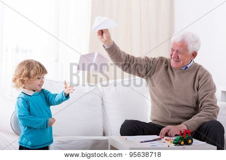 Kid And Paper Airplane