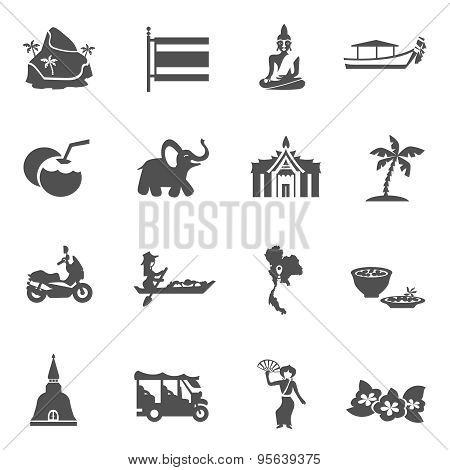 Thailand Travel Icons Set