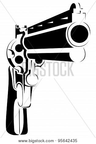 vector illustration with directional gun