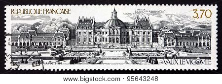 Postage Stamp France 1989 Vaux Le Vicomte, French Chateau