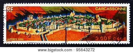 Postage Stamp France 2000 Medieval City Of Carcassonne