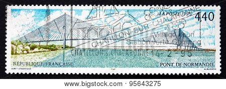 Postage Stamp France 1995 Normandy Bridge