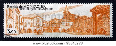 Postage Stamp France 1986 Bastide De Monpazier