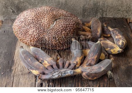 Rotten Jackfruit And Banana