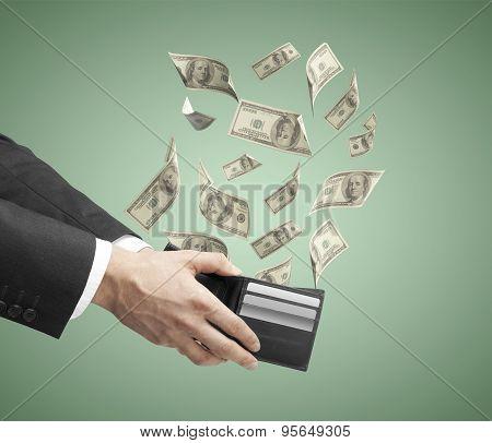 Businessman Hand Holding A Purse