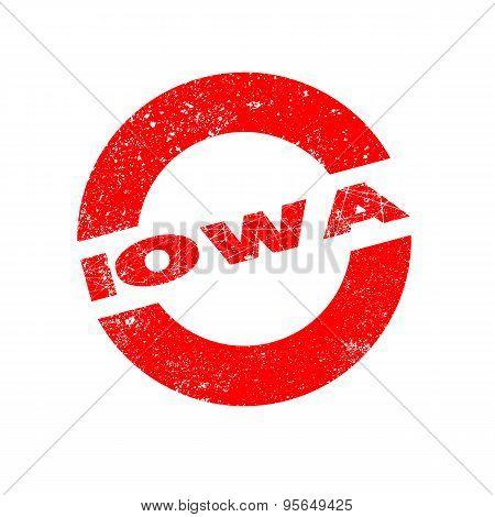 Rubber Ink Stamp Iowa