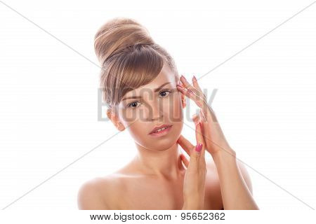 Girl With Nude Makeup.