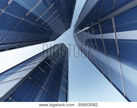 skyscapers 3d rendering