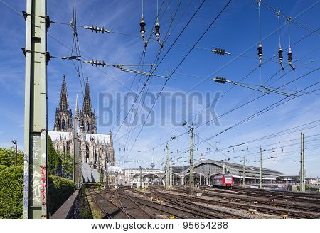 Cologne Central Station And Cathedral, Germany