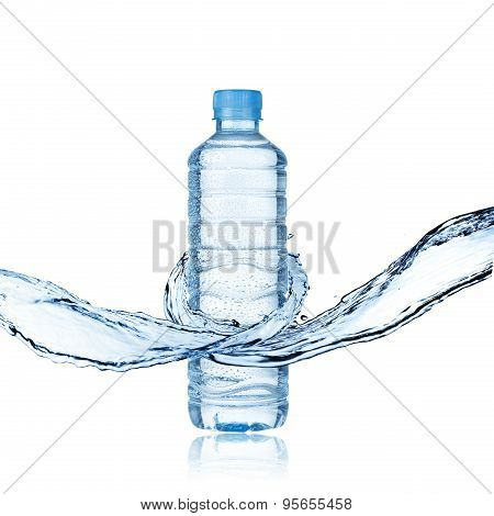 Water Splash and Water Bottle