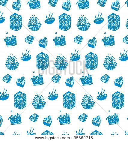Pattern Of Blue Cakes