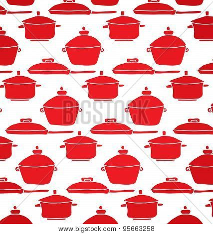 pattern of red pots
