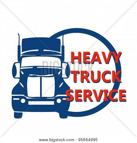 Vector Illustration Design Banner For Hevy Truck