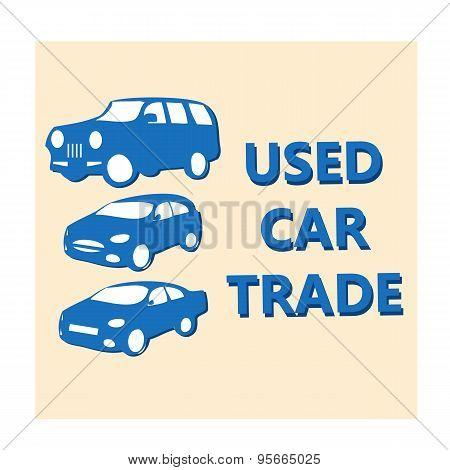 Vector Illustration Design Banner For Automobile Business