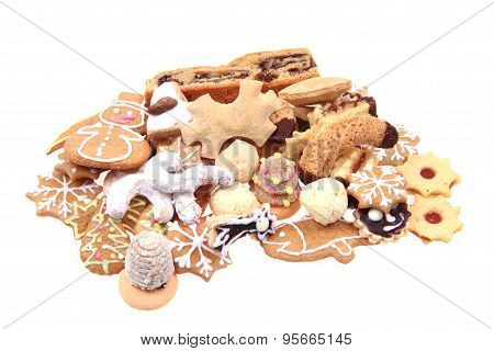 Different Christmas Cookies Isolated