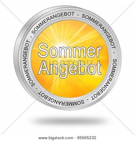 Summer Sale Button - in german