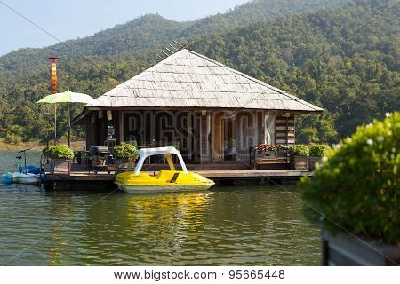 Building Houseboat On The Lake
