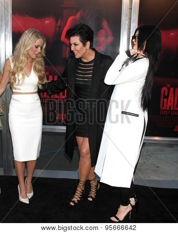 LOS ANGELES - JUL 7:  Cassidy Gifford, Kris Jenner, Kylie Jenner at the
