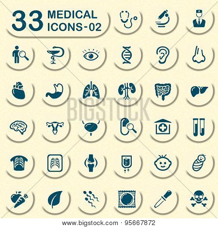Jeans medical icon set