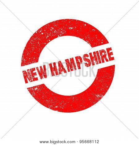 Rubber Ink Stamp New Hampshire