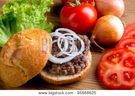 Delicious Home Made Hamburger