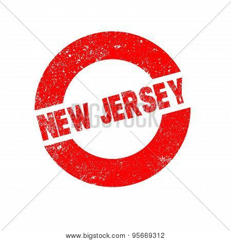 Rubber Ink Stamp New Jersey