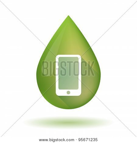 Olive Oil Drop Icon With A Smart Phone