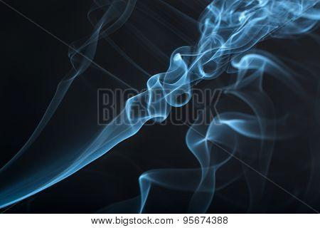Blue Smoke Closeup
