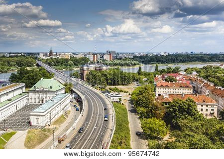 Panoramic View Of Warsaw, Poland