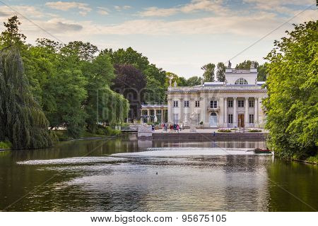 Warsaw, Poland - July 08, 2015: The Lazienki Palace In Lazienki Park, Literally
