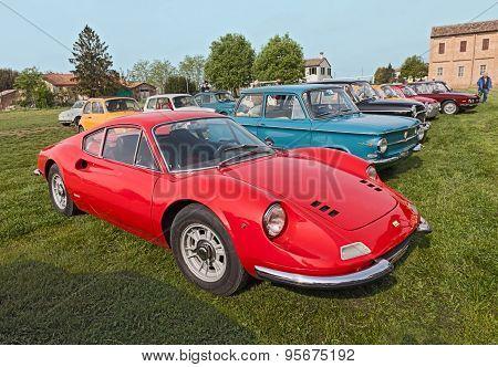 vintage Ferrari Dino GT
