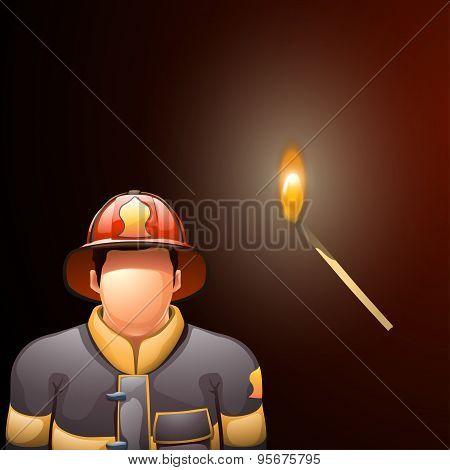 fireman and match
