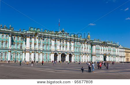 Palace Square And Hermitage